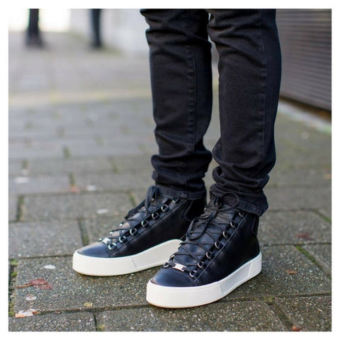 Balenciaga Men Holiday Black Arena High Sneakers