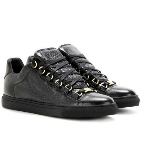 BALENCIAGA Black Arena leather sneakers - Mufutau.com
