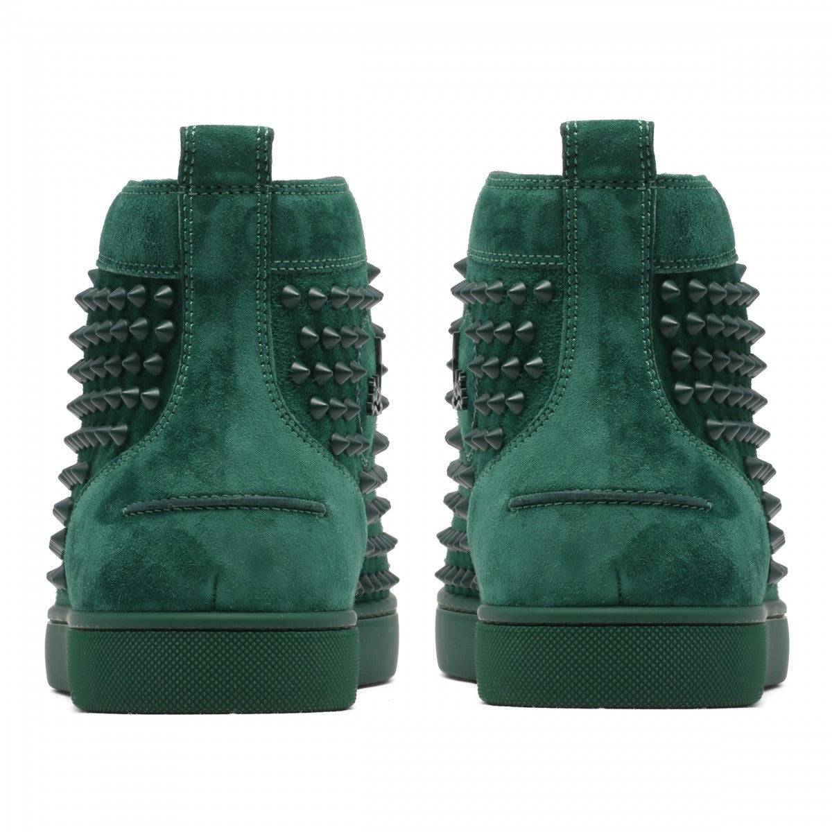 Christian Louboutin Green Suede Louis Junior Sneakers