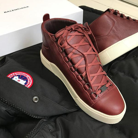 Balenciaga Men Arena Holiday Pack Maroon Sneakers