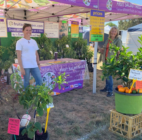 Fruit Salad Trees set up at Murrumbateman Field Days 2019