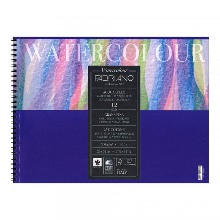 Fabriano : Studio Watercolour Pad : 300gsm : 12 Sheets