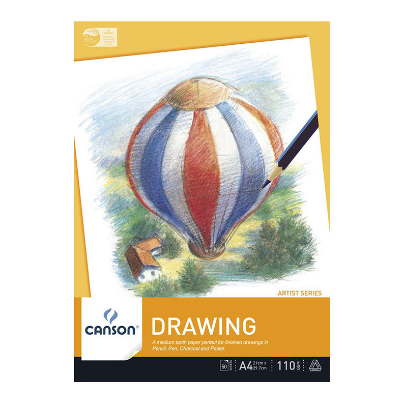 Canson : Drawing Pad : 110gsm : 50 sheets