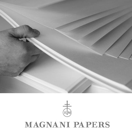Magnani : Revere Printmaking Paper : Felt /Textured : Warm White : 250gsm : 56x76cm : 5 Sheets