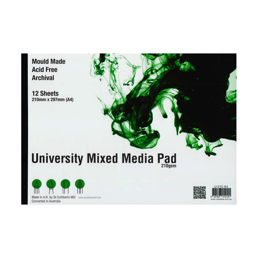 St Cuthberts Mill : University Mixed Media Pad : 12 Sheets : 210gsm