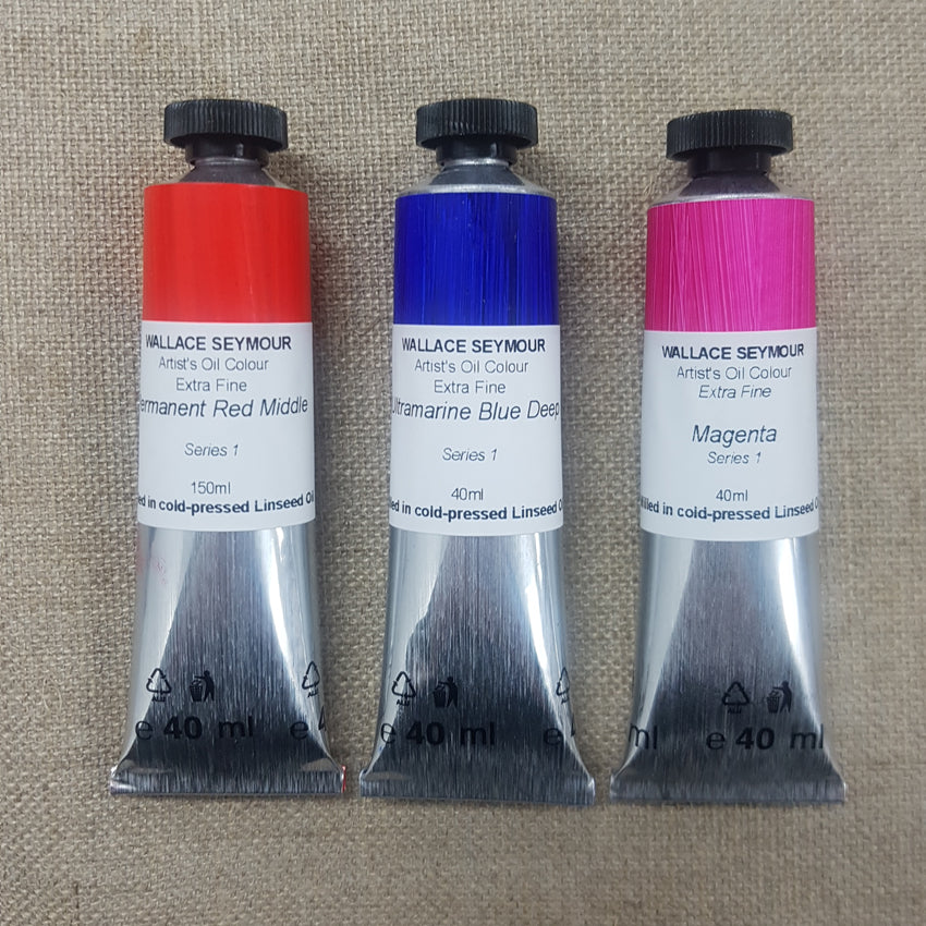Wallace Seymour : Extra Fine Artist's Oil Colour : 40ml : Series 1