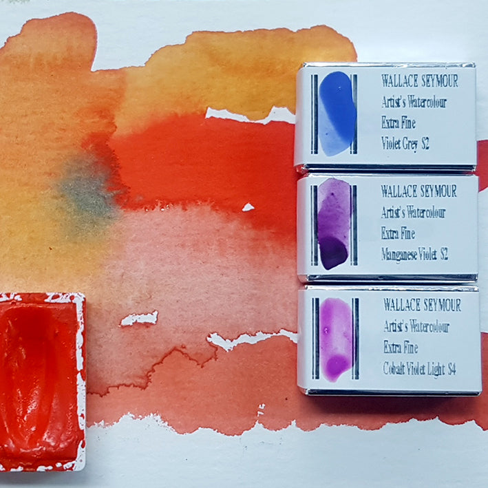 Wallace Seymour Artists Watercolours Whole Pans