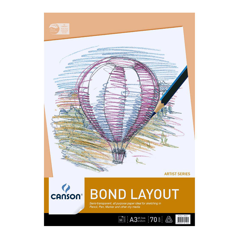 Bond Layout Pad 70gsm - 50 sheets