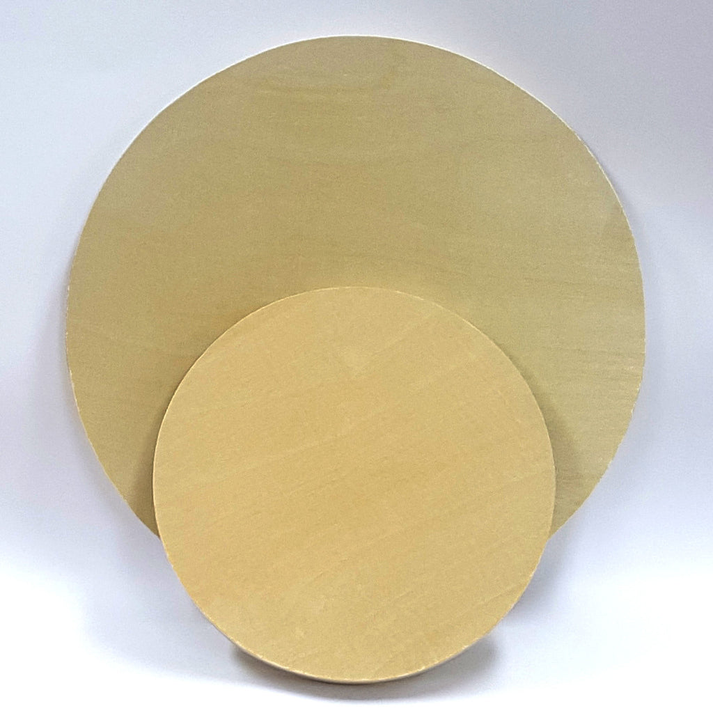 Wooden Circle Painting Panel : Pine : 17mm Deep