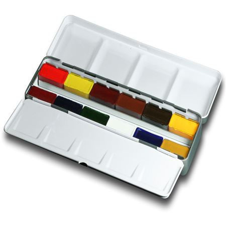 Da Vinci Watercolour Metal Palette Box Set : 12 Full Pans