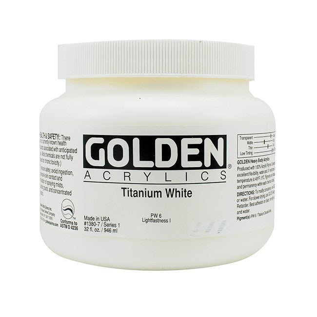 Golden Heavy Body Acrylic 946ml - Titanium White