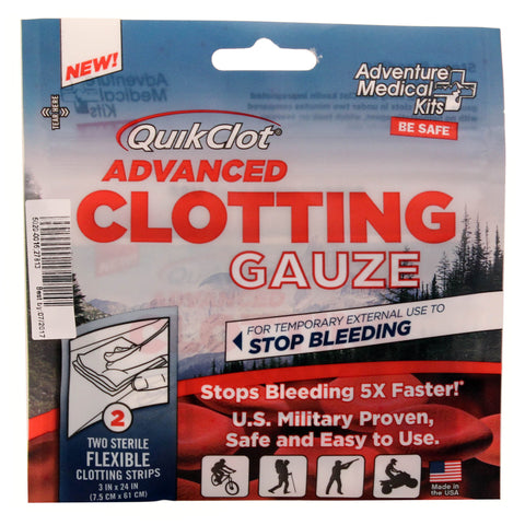 "Adventure Medical Quikclot Gauze, 3""x24"" - Take That Outside"