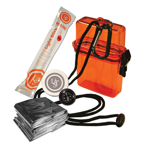 Ultimate Survival Technologies Watertight Survival Kit 1.0, Orange - Take That Outside
