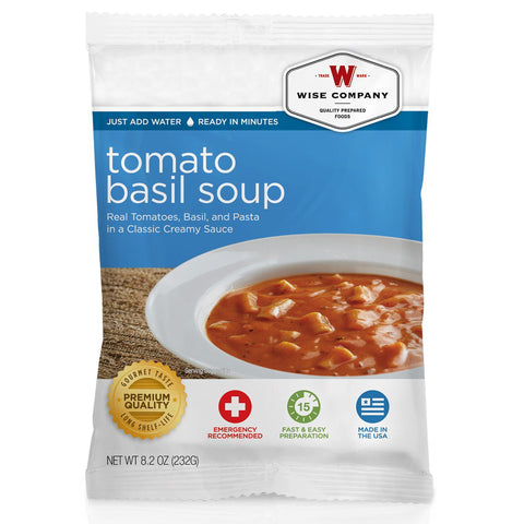 Wise Foods Tomato Basil Soup with Pasta - Take That Outside