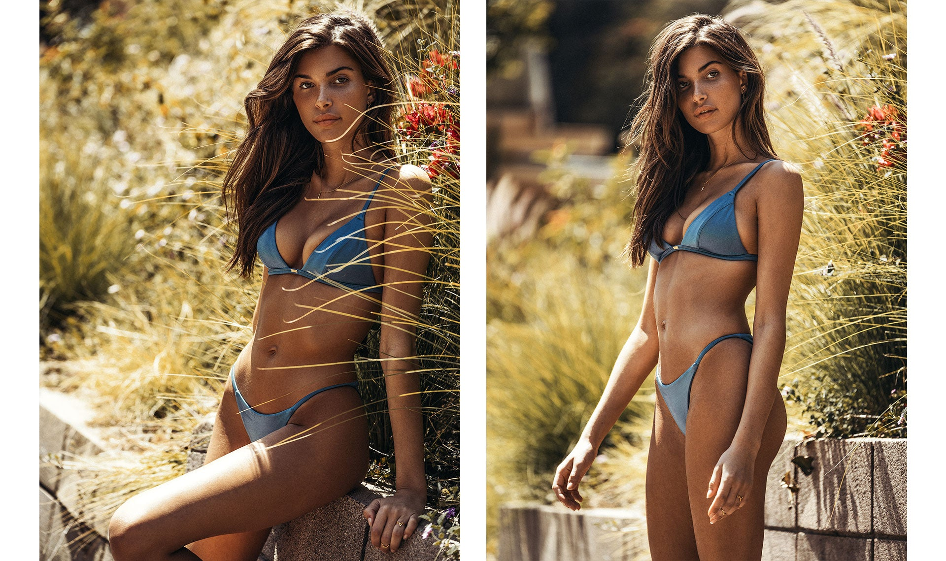 Charlotte D'Alessio wearing the So Chic Blue Lagoon Bikini Set
