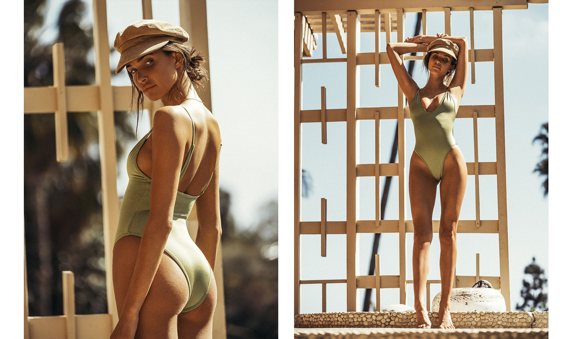 Charlotte D'Alessio wearing the So Chic Minty Wonder One Piece