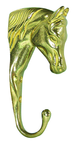 brass horse head hanger 6in