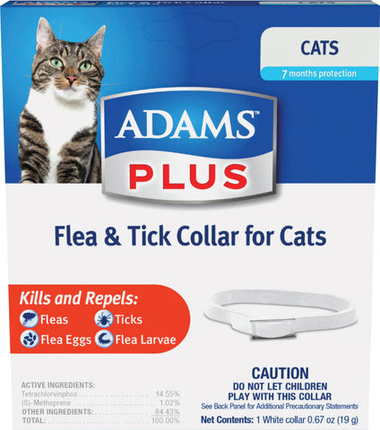 adams collar flea & tick cat 24