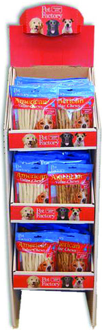 American Beefhide Twist Sticks Display