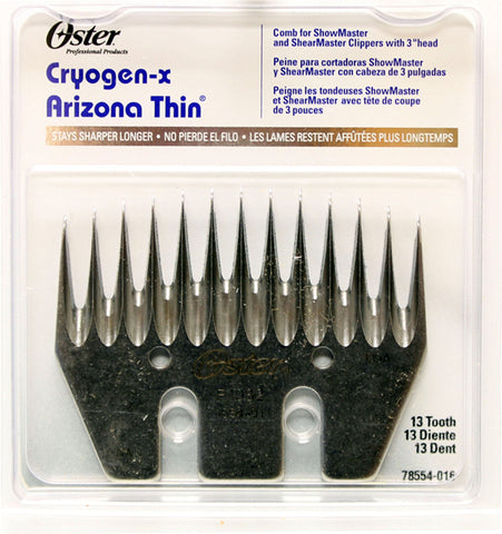 oster arizona thin-13 tooth com