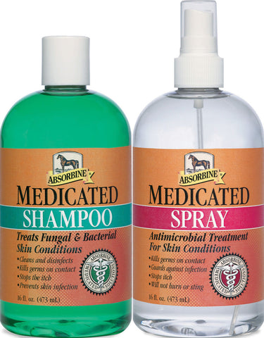 Absorbine Medicated Shampoo & Spray Twin Pack