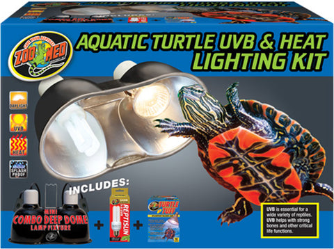 aq turtle uvb/heat light kit 12