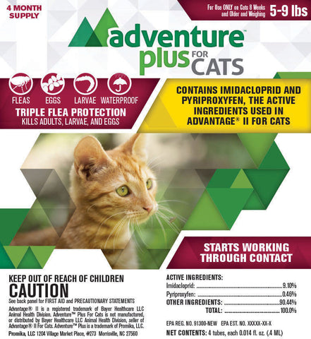 adventure plus cat 5-9lb 4pk