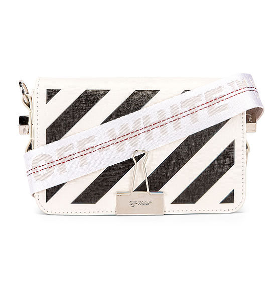 OFF WHITE- Diagonal Mini Flap Bag