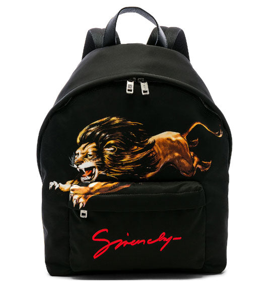 GIVENCHY- Lion Print Backpack