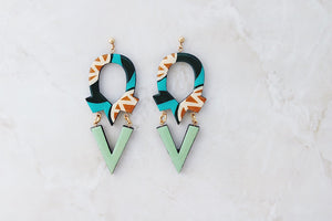 Grace and Grit  custom wooden earrings PRE-ORDER