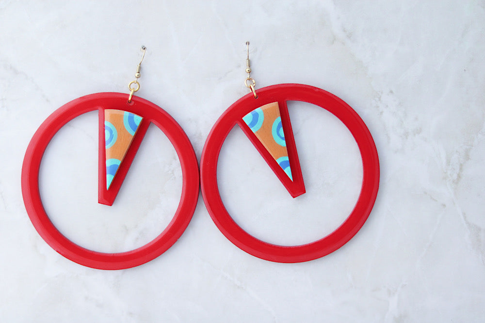 Hoops with a twist - Red
