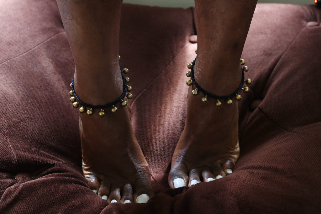 Gypsy soul brass anklet - Wild Child Dzigns
