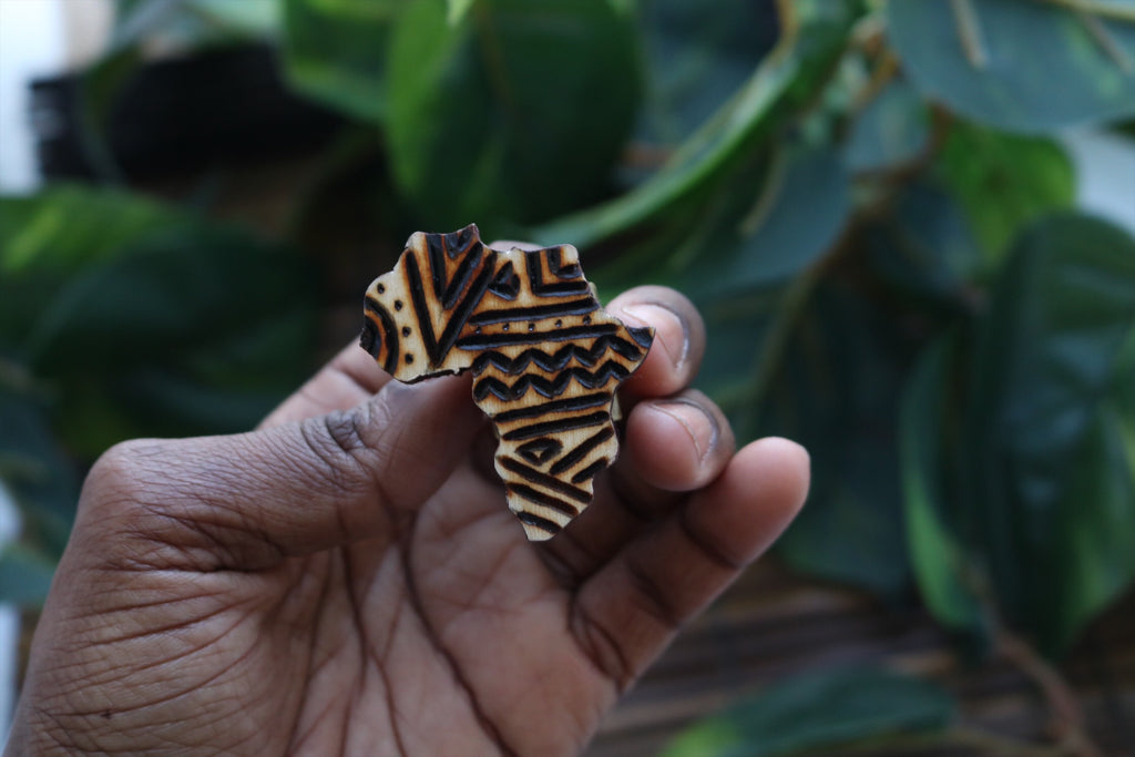Wooden Africa shaped ring - Wild Child Dzigns