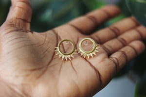 Spiked post earrings