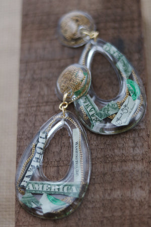 Run me my money door knocker earrings