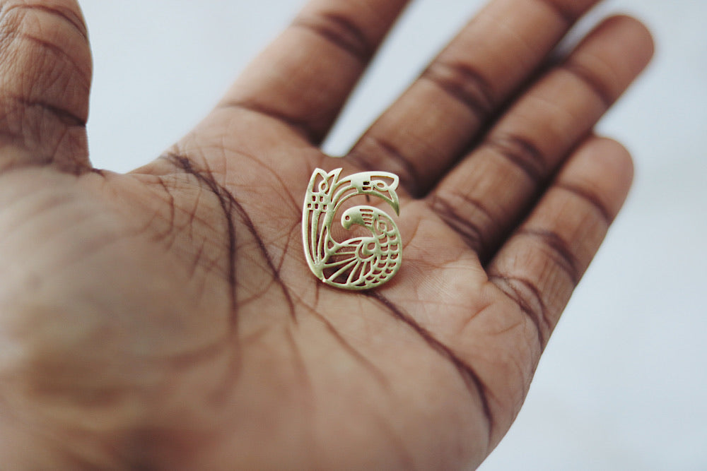 Sankofa bird earrings WC2
