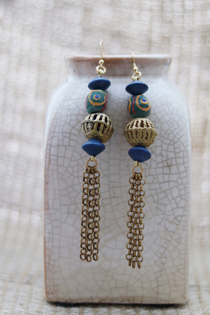 African filigree drop earrings - Wild Child Dzigns