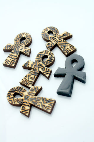 Wooden ankh ring