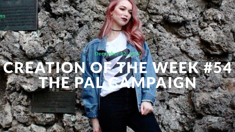 "PAL Campaign featured as ""Creation of the Week"" on Catholic Creatives"