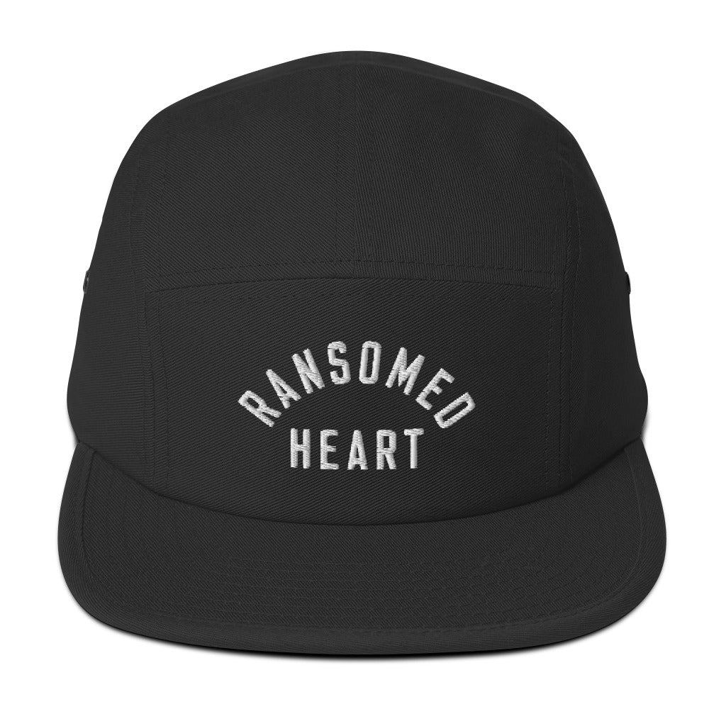 Ransomed Heart Christian Catholic 5-Panel Camper Hat in Black | PAL Campaign