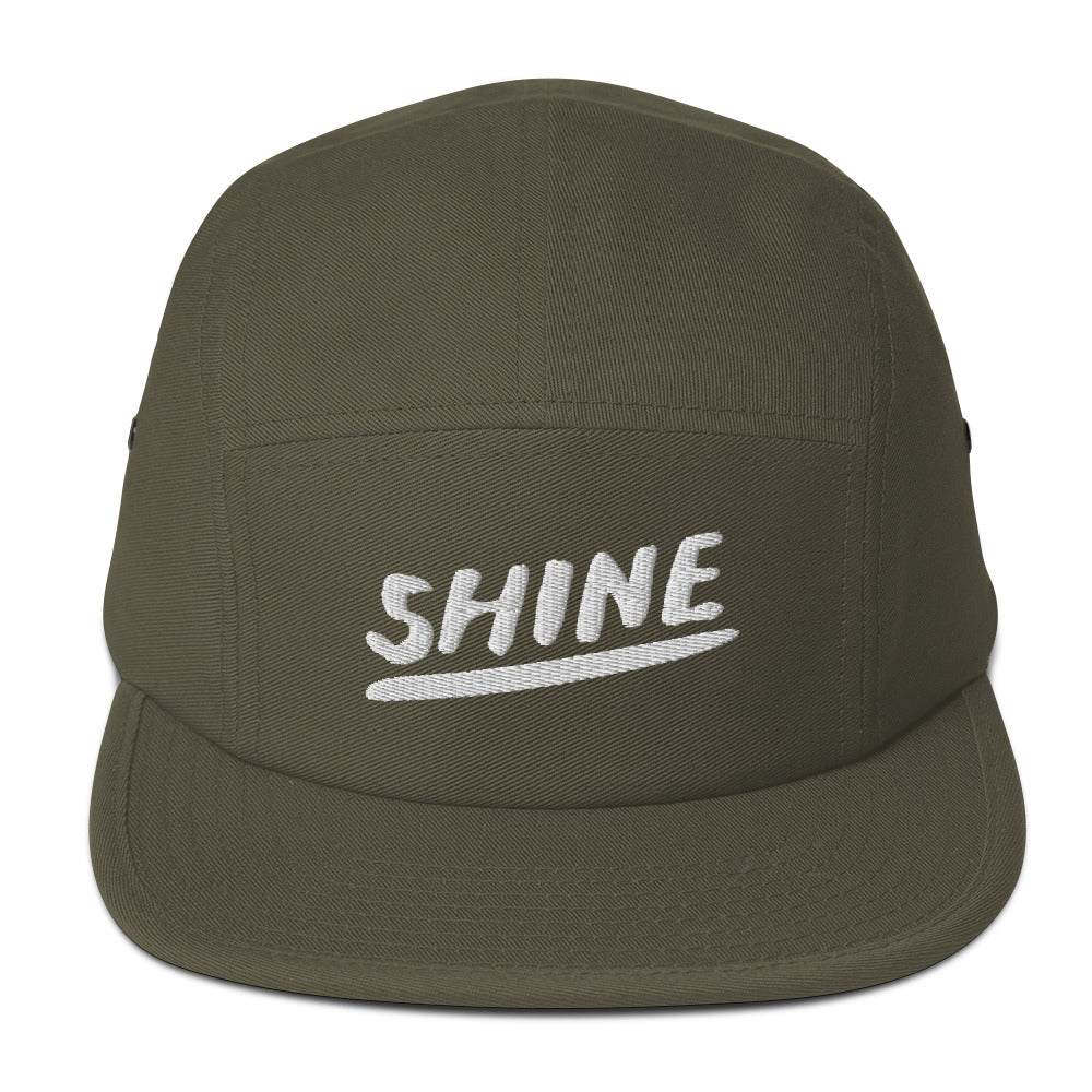 Shine Christian Catholic 5 Panel Camper Hat in Olive | PAL Campaign