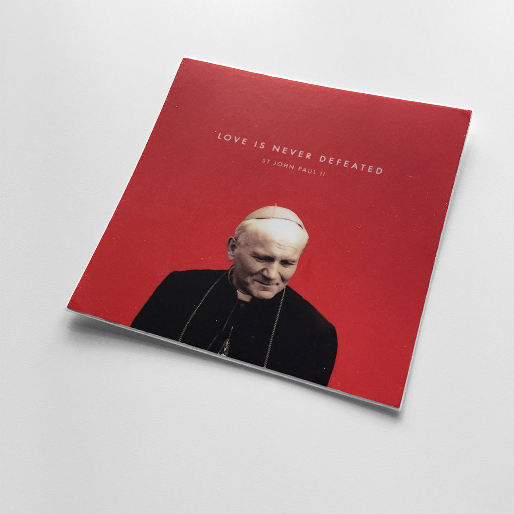 St. John Paul 2 Christian Catholic Vinyl Sticker | PAL Campaign