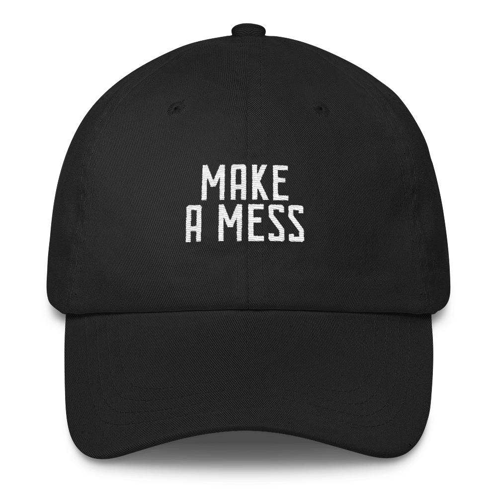 Make a Mess Christian Catholic Low Profile Dad Cap Black | PAL Campaign