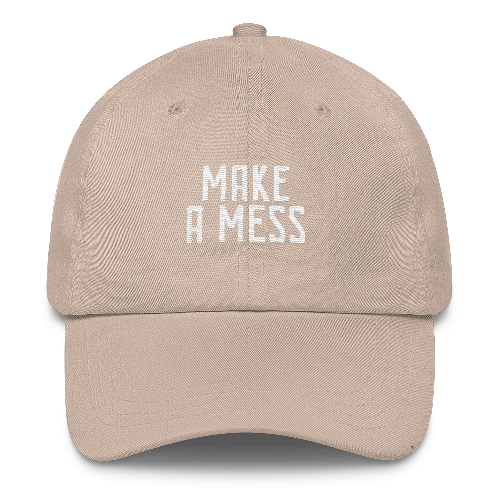 Make a Mess Christian Catholic Low Profile Dad Hat Stone | PAL Campaign