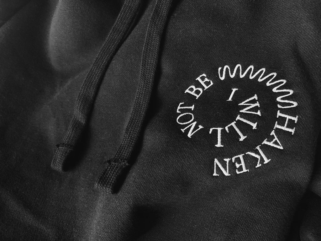 Not Be Shaken Christian Catholic Pullover Unisex Hoodie Close-up | PAL Campaign