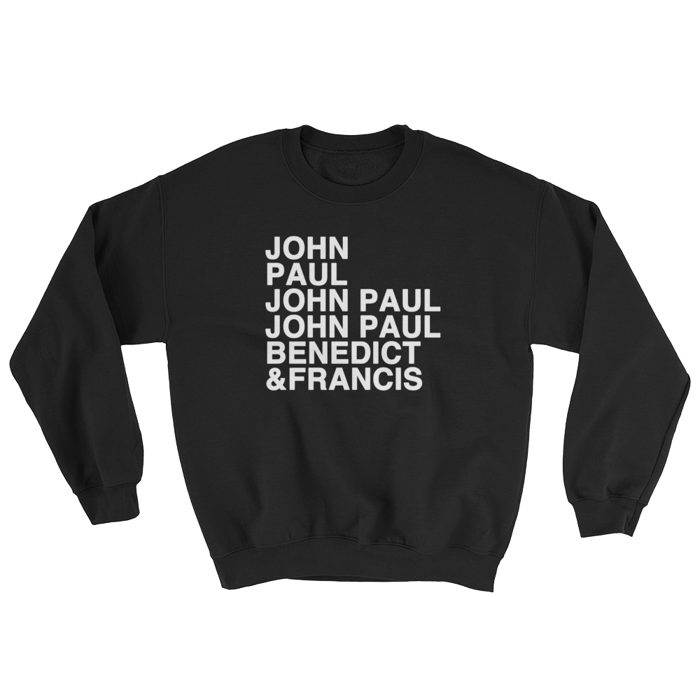 Popes Christian Catholic Crewneck Sweatshirt | PAL Campaign
