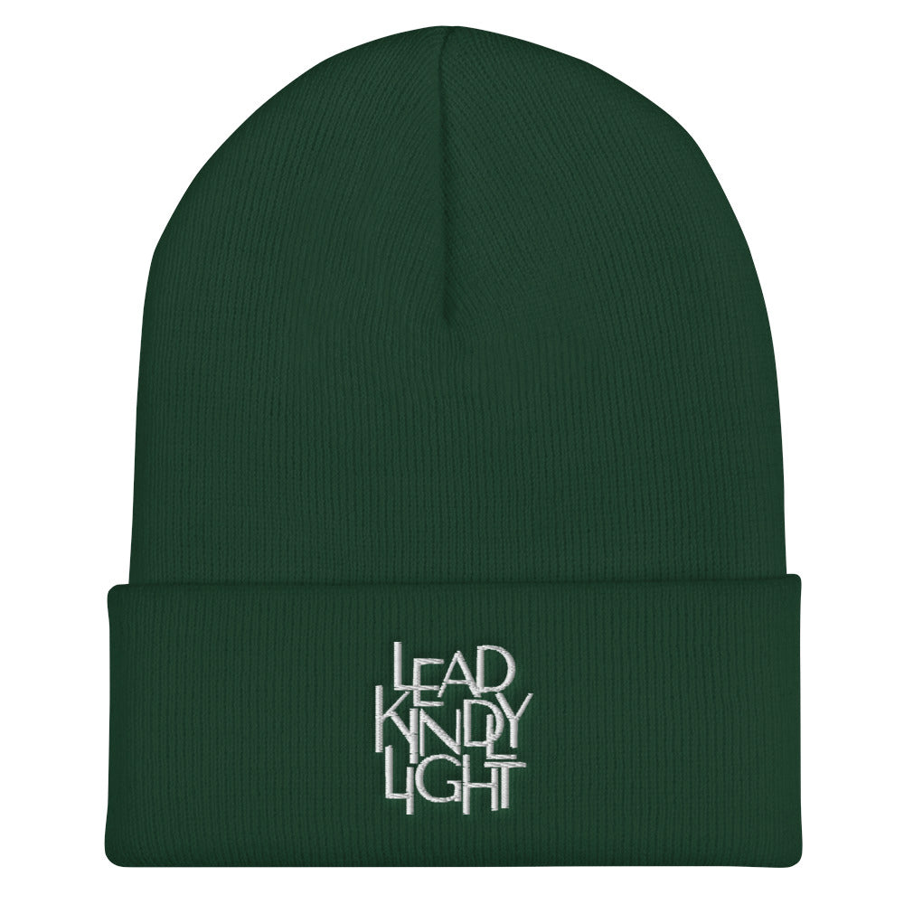 Lead Kindly Light Christian Catholic Beanie in Spruce | PAL Campaign