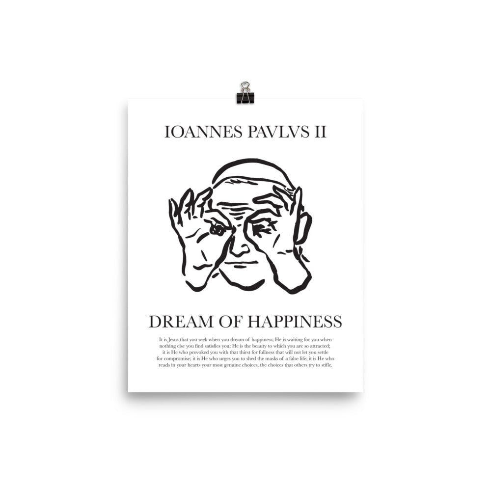 Dream of Happiness - JP2 Christian Catholic Poster Print | PAL Campaign