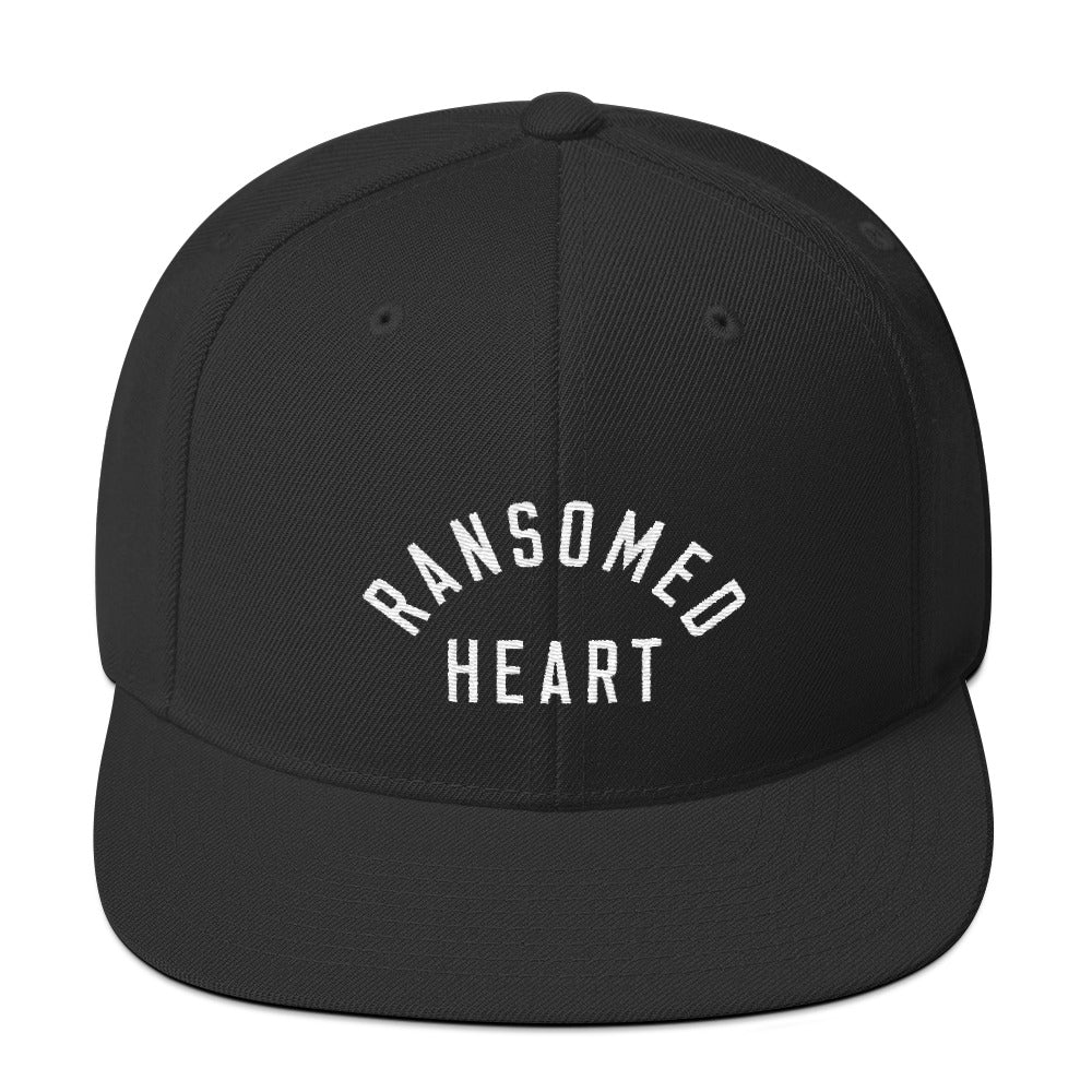 Ransomed Heart Christian Catholic Snapback Hat in Black | PAL Campaign