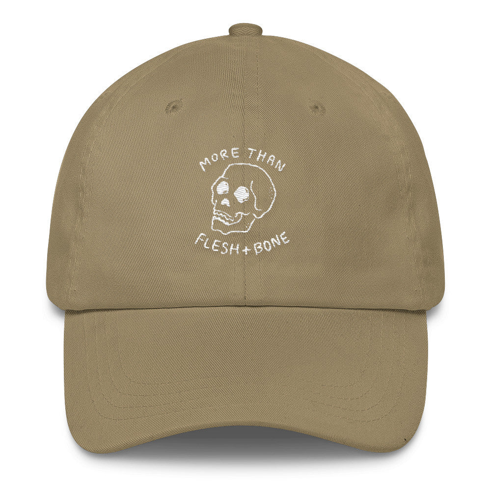 Flesh and Bone (Khaki) Christian Catholic Dad Cap | PAL Campaign